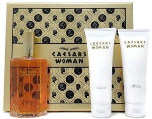 Caesars Woman (Vintage) Caesars World Women 3pc Gold Set: 3.3oz Extravagant Cologne, Lotion, Shower Gel - FragranceAndBeauty.com