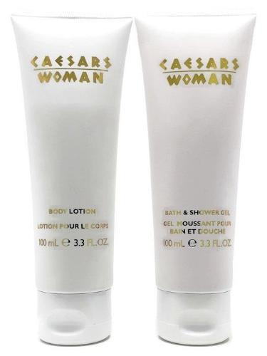 Caesars Woman (Original) by Caesars World 2-Piece Set: 3.3 oz Body Lotion, Bath & Shower Gel Unboxed - FragranceAndBeauty.com