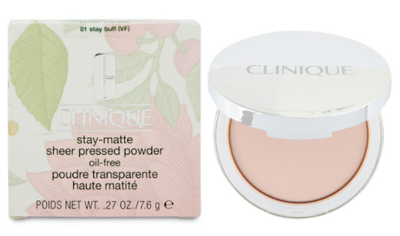 Clinique Stay-Matte Sheer Oil-Free Pressed Powder (Select Color) 7.6 g/.27 oz Full Size
