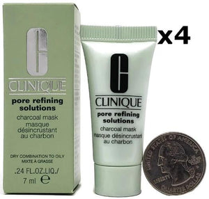 Clinique Pore Refining Solutions Charcoal Mask 7 ml/.24 oz Sample Size (Lot of 4) - FragranceAndBeauty.com
