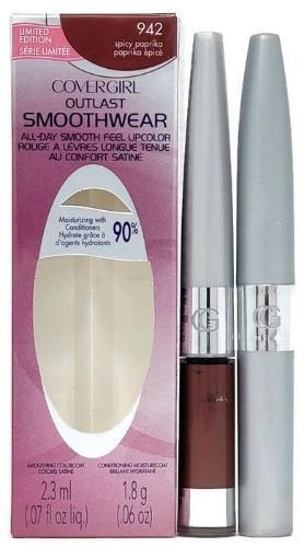CoverGirl Outlast Smoothwear Lipcolor Lipstick with Moisturecoat (Spicy Paprika 942) Full-Size - FragranceAndBeauty.com