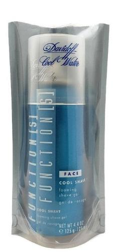 2 Cool Water Face Function(s) by Davidoff for Men 4.4 oz Cool Shave Foaming Gel - FragranceAndBeauty.com