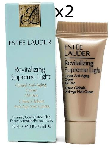 Estee Lauder Revitalizing Supreme Light Global Anti-Aging Creme 5 ml/.17 oz Sample (Lot of 2) - FragranceAndBeauty.com