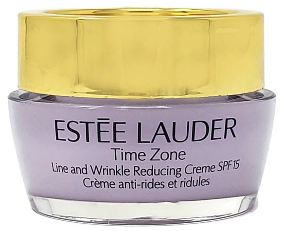 Estee Lauder Time Zone Line and Wrinkle Reducing Face Creme SPF 15 15 ml/.5 oz Deluxe Sample - FragranceAndBeauty.com