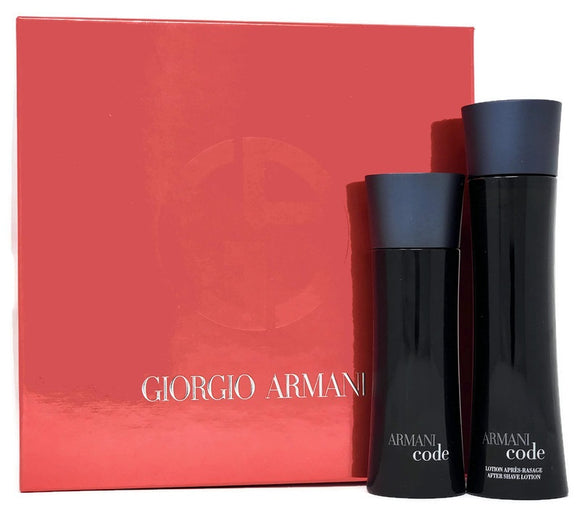 Armani Code (Original) by Giorgio Armani for Men 2-Piece Set: 2.5 oz EDT Spray and 3.4 oz After Shave Lotion - FragranceAndBeauty.com