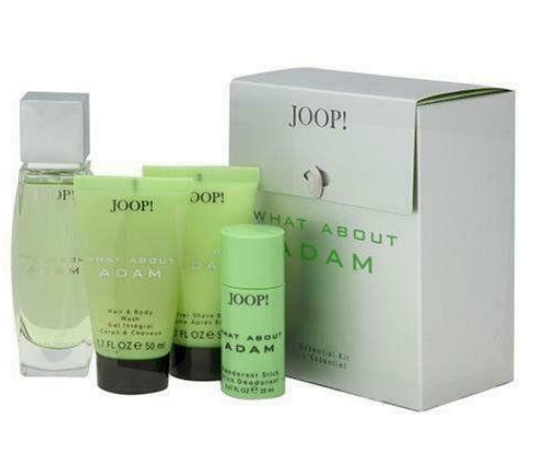 What About Adam by Joop Men 4-Piece Set: 2.5oz EDT + Deodorant, Gel, A/S Balm