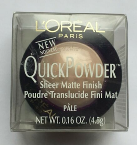 L'Oreal QuickPowder Sheer Matte Finish Pressed Powder (Select Shade) 4.5 g/.16 oz Full Size - FragranceAndBeauty.com