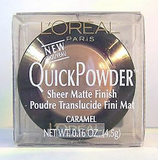 L'Oreal QuickPowder Sheer Matte Finish Pressed Powder (Select Shade) 4.5 g/.16 oz Full Size