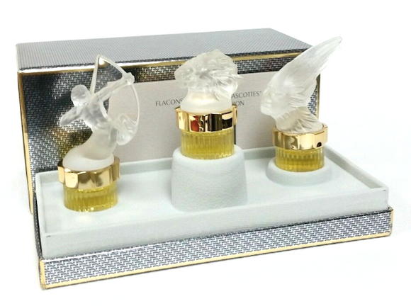 Lalique for Men 3-Piece Set Mascot Miniature Coffret Collectible Set Limited Edition