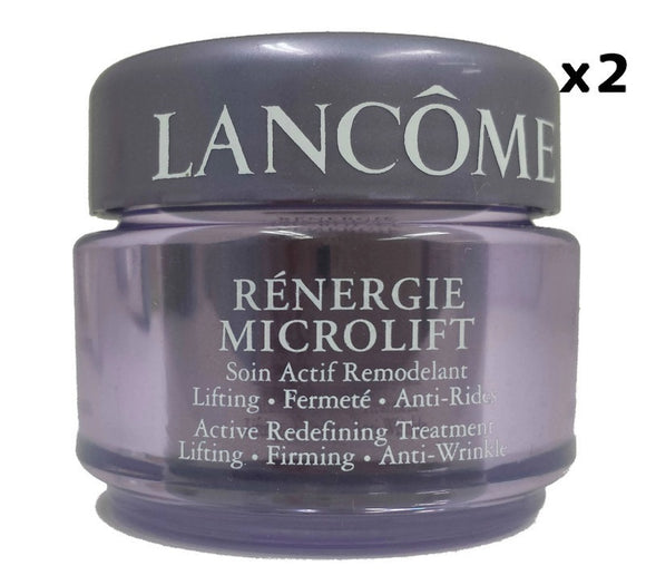 Lancome Renergie Microlift Active Redefining Treatment 15 g/.5 oz each Deluxe Sample (Lot of 2) - FragranceAndBeauty.com