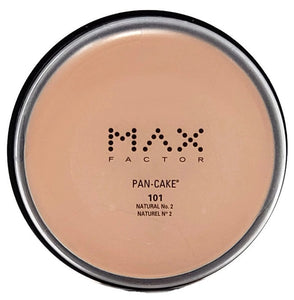 Max Factor Pan-Cake/Pancake Water-Activated Makeup (Select Color) Full-Size Original Clear Case - FragranceAndBeauty.com