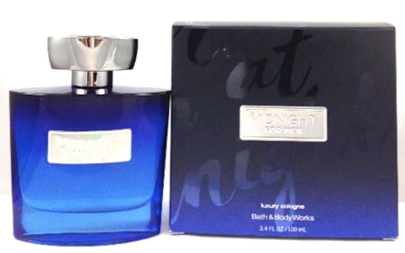 Midnight for Men Bath & Body Works 100 ml/3.4 oz Luxury Cologne Spray