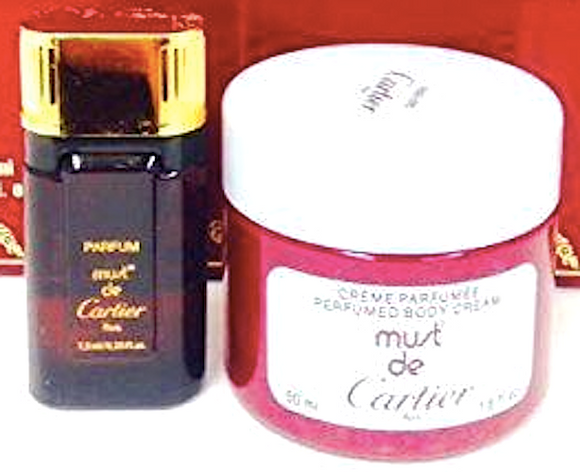 Must de Cartier (Vintage) by Cartier for Women 2-Piece Set .25 oz Pure Parfum + 1.6 oz Body Cream