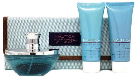 Nautica My Voyage Women 3-Piece Set: 3.4 oz EDP Spray, 2.5 oz Lotion and 2.5 Body Wash - FragranceAndBeauty.com