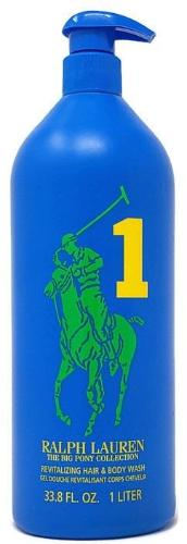 Big Pony Blue 1 by Ralph Lauren for Men 33.8 oz/1 Liter Revitalizing Hair & Body Wash Unboxed - FragranceAndBeauty.com