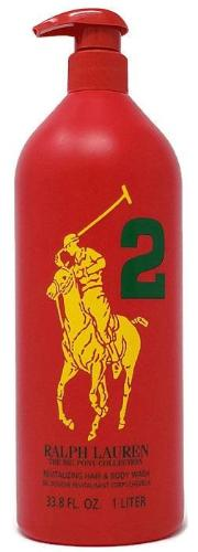 Big Pony Red 2 by Ralph Lauren for Men 33.8 oz/1 Liter Revitalizing Hair & Body Wash Unboxed - FragranceAndBeauty.com