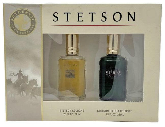 Stetson & Stetson Sierra by Coty for Men 2 Pc Set: 22 ml/.75 oz Cologne Spray Each - FragranceAndBeauty.com