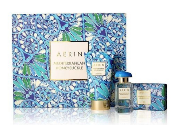 AERIN Mediterranean Honeysuckle Women 3-Piece Set: 1.7 oz Eau de Parfum Spray, 5 oz Body Creme, Soap - FragranceAndBeauty.com