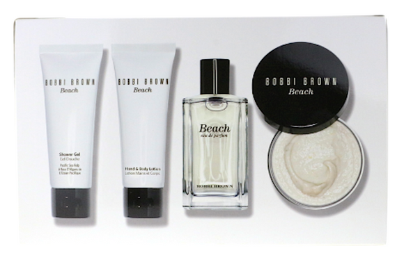 Beach by Bobbi Brown for Women 4-Piece Set: 1.7 oz EDP Spray, Body Lotion, Shower Gel and Body Scrub - FragranceAndBeauty.com