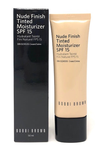 Bobbi Brown Nude Finish Tinted Moisturizer SPF 15 (Select Color) 1.7 oz Full Size - FragranceAndBeauty.com