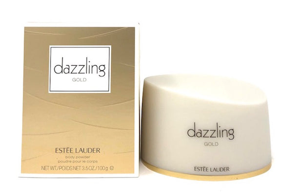 Dazzling Gold by Estee Lauder for Women 100 g/3.5 g Perfumed Body Powder Full Size - FragranceAndBeauty.com