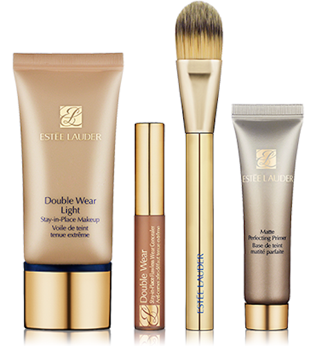 Estee Lauder Double Wear Light Stay-in-Place Makeup Lesson 4pc Set (Select Intensity) - FragranceAndBeauty.com