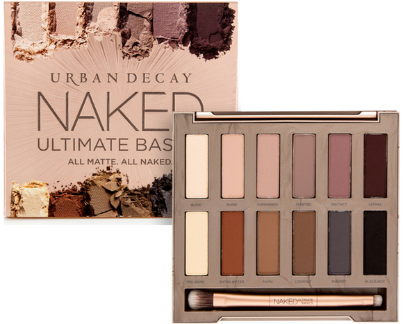 Urban Decay Naked Ultimate Basics Eyeshadow Palette + Blending & Smudger Brush - FragranceAndBeauty.com