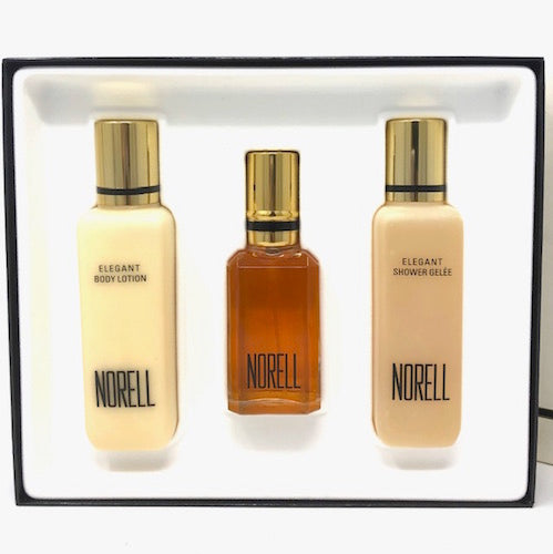Norell (Vintage) by Five Star Fragrance Co. for Women 3-Piece Set: 1.7 oz Eau de Toilette Spray, 4 oz Body Lotion & Shower Gelee - FragranceAndBeauty.com