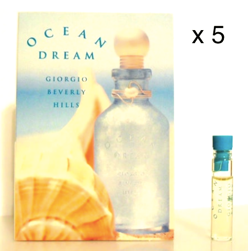 Ocean Dream by Giorgio Beverly Hills for Women 1 ml/.03 oz each Sample Vial - FragranceAndBeauty.com