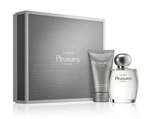 Pleasures by Estee Lauder for Men 2-Piece Set: 3.4 oz Cologne Spray + 2.5 oz A/S Balm - FragranceAndBeauty.com