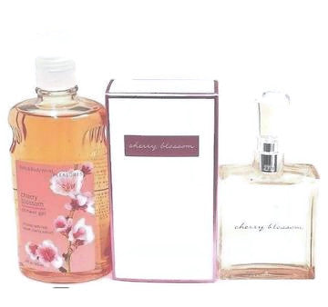 Cherry Blossom Bath & Body Works Women 2 Piece Set: 2.5oz EDT + 10oz Shower Gel - FragranceAndBeauty.com