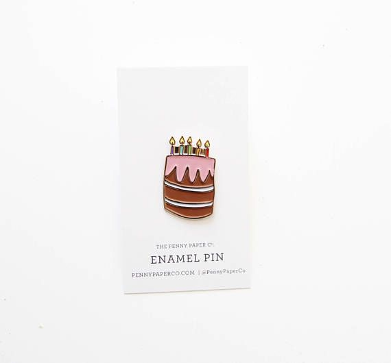 Birthday Cake - Enamel Pin