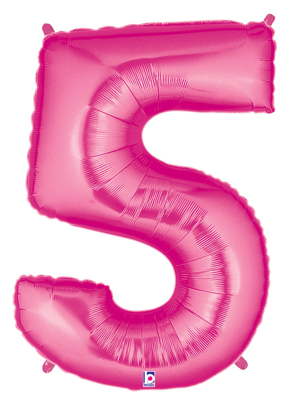"40"" Large Number Balloon 5 Pink"