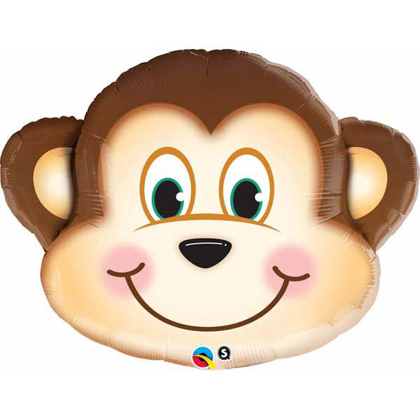 "18"" Monkey Head Mylar Balloon"