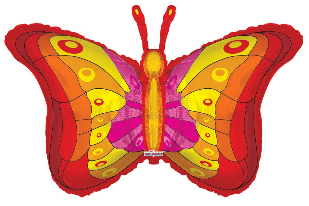 "36"" Red Butterfly Foil Balloon"