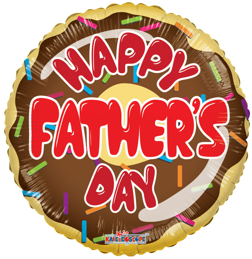 "18"" Father's Day Donut Foil Balloon"