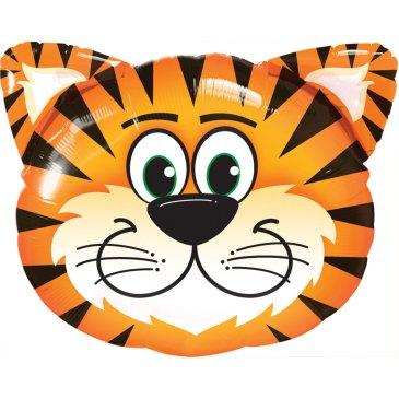 "18"" Mylar Tiger Head Balloon"