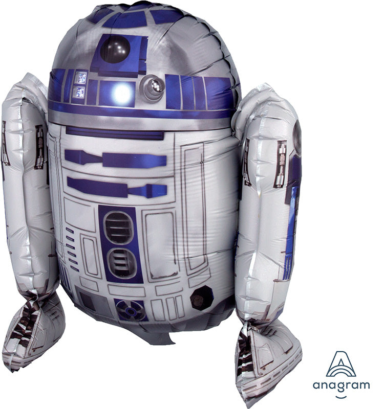 "15"" Airfill Only Sitting R2D2 Foil Balloon"