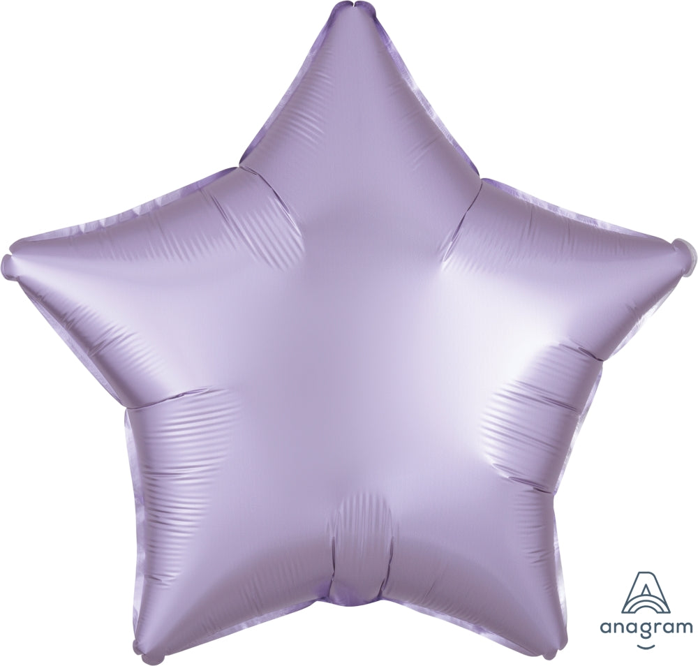 "18"" Satin Luxe Star Pastel Lilac Foil Balloon"