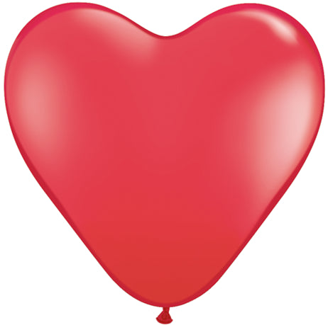 "11"" Red Heart Latex Balloons"