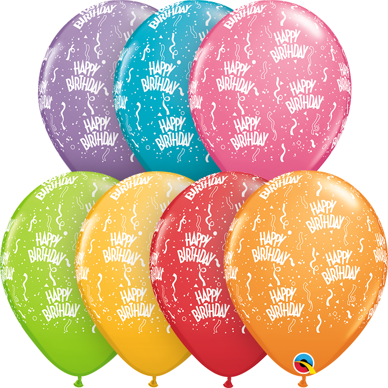"11"" Happy Birthday Latex Balloons"