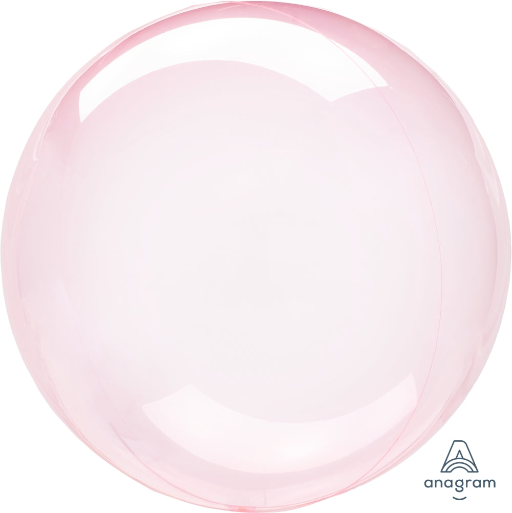 "18"" Crystal Clearz Dark Pink Mylar Balloon"