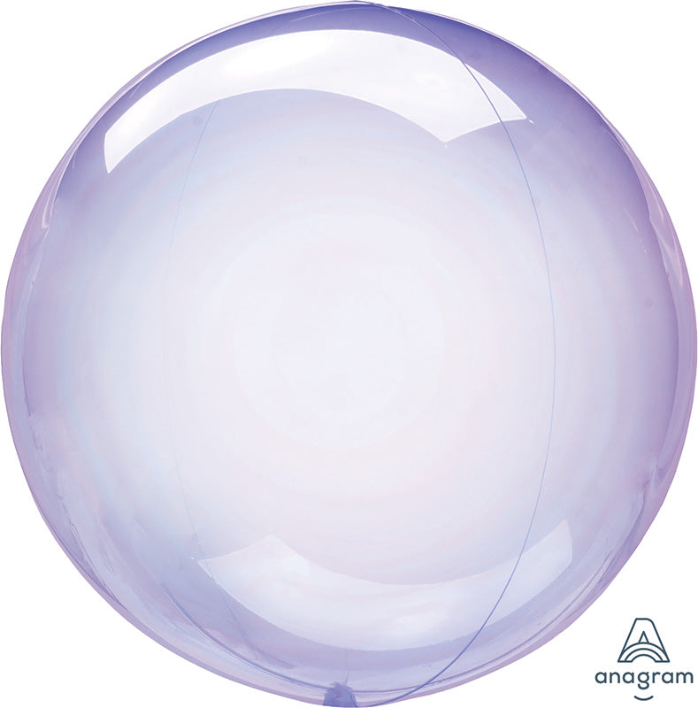 "18"" Crystal Clearz Purple Mylar Balloon"