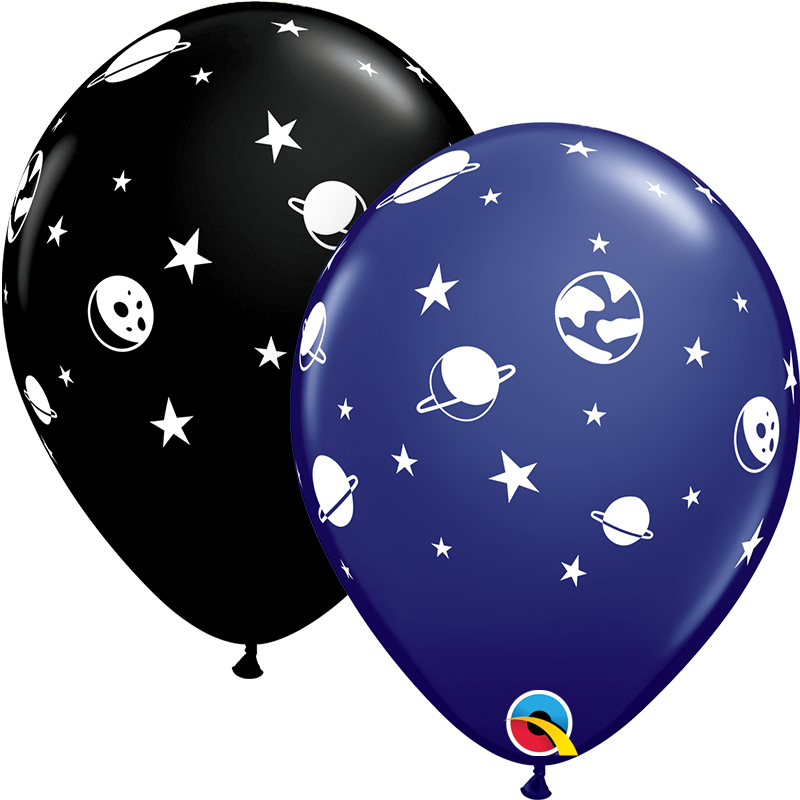 "11"" Celestial Fun Universe and Galaxy Latex Balloons"