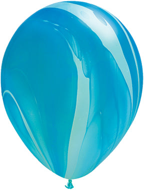 "11"" Blue Agate Latex Balloon"