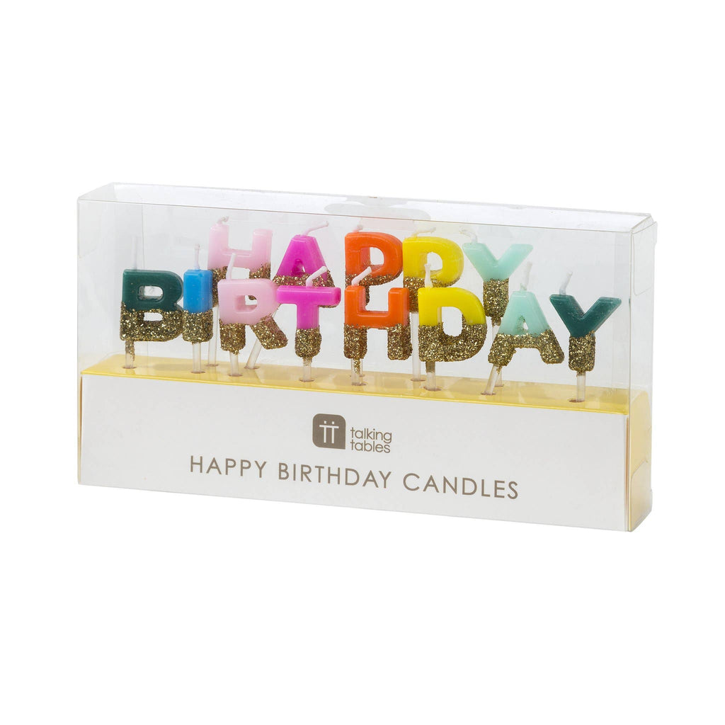 Happy Birthday Candles - Birthday Brights Rainbow