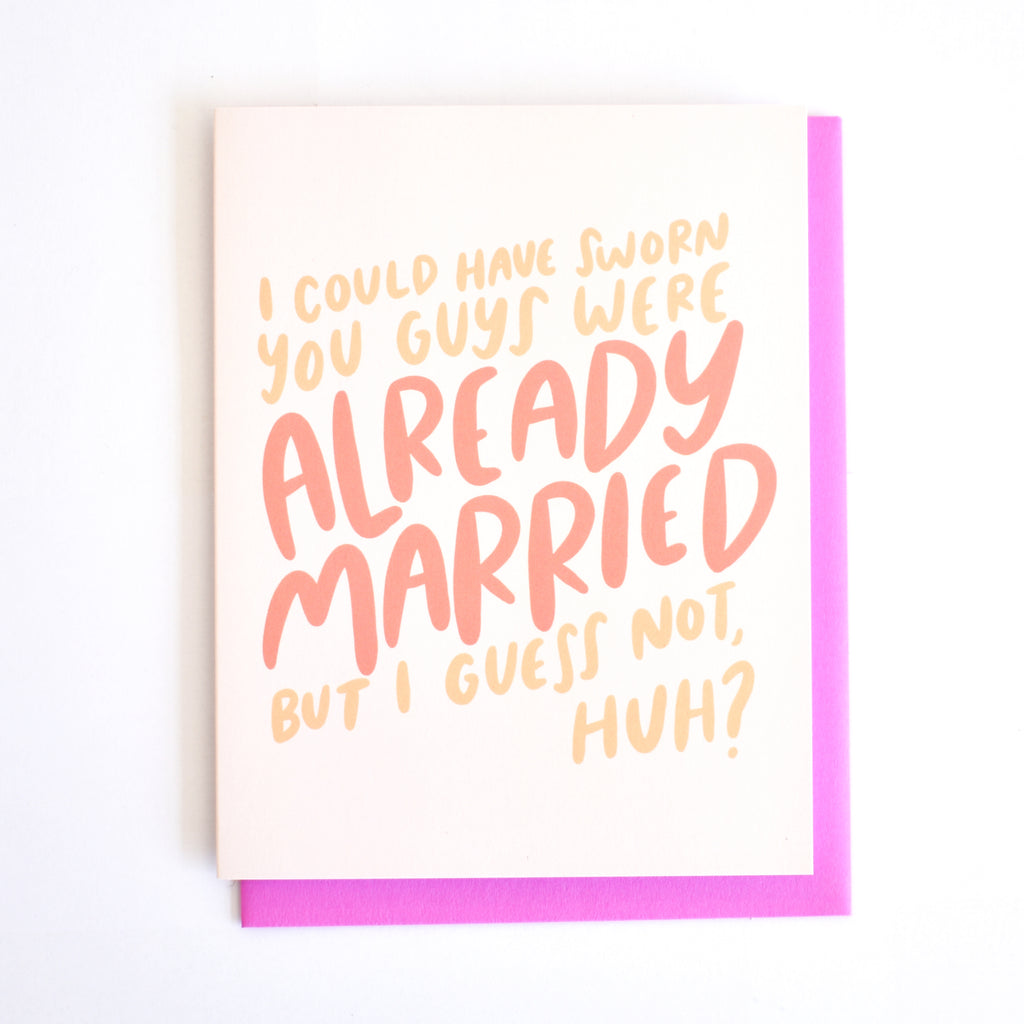 Already married..card