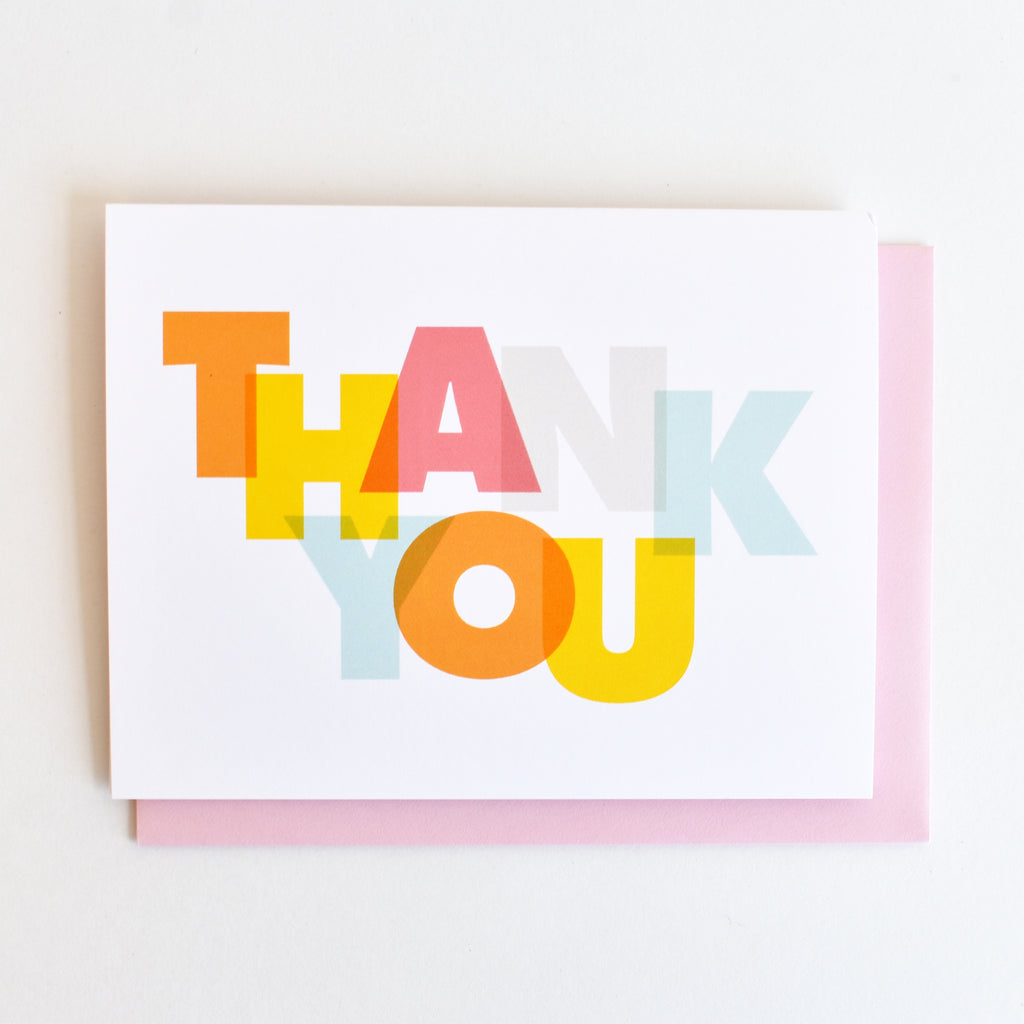 Modern Thank You Greeting Card