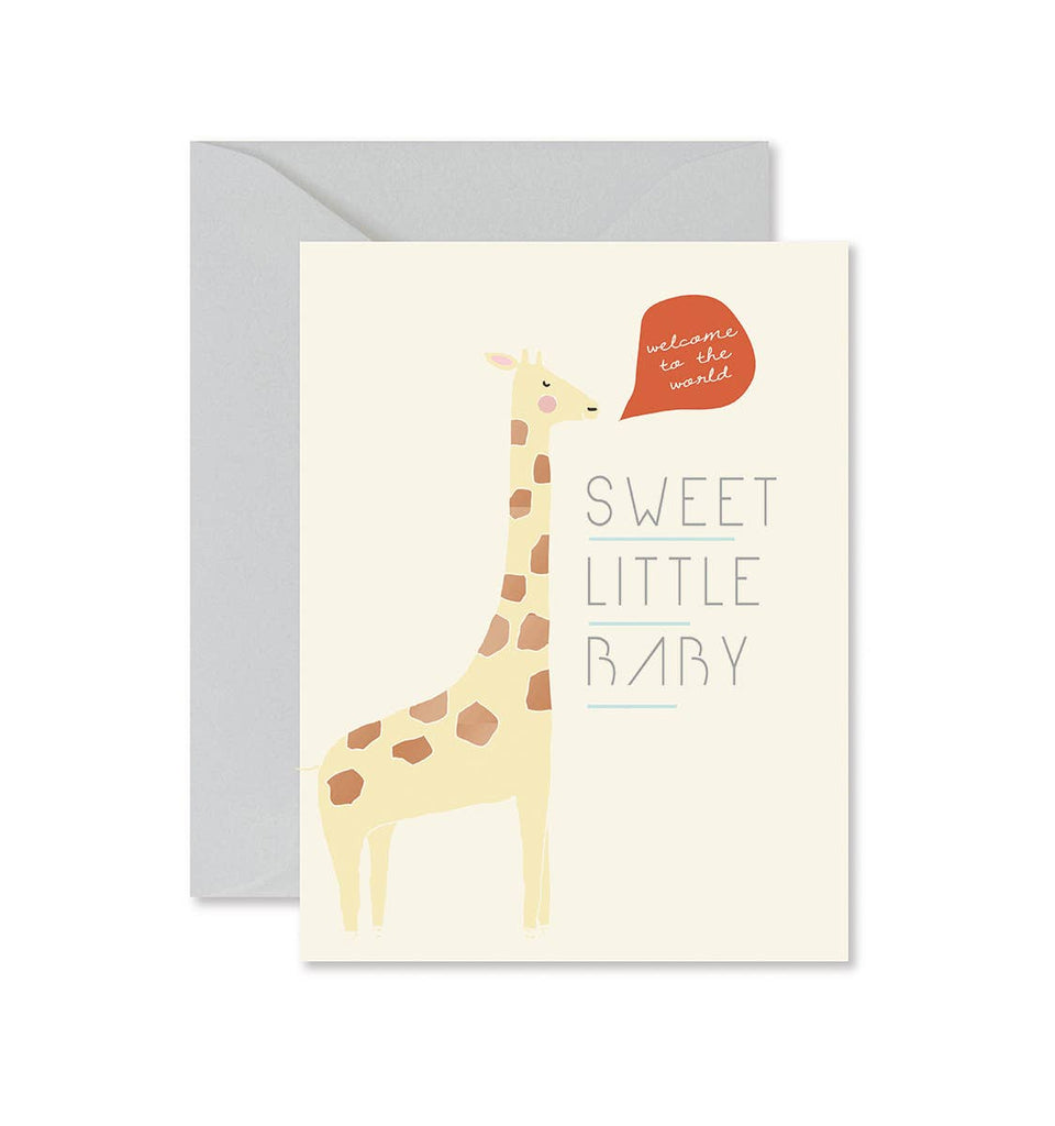Giraffe Sweet Little Baby Card