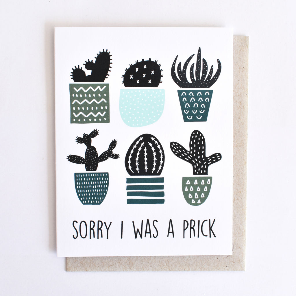 Sorry I Was a Prick Card